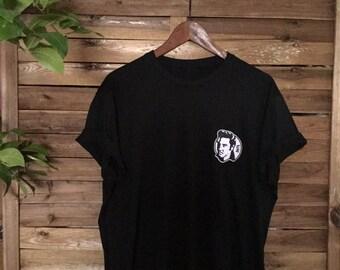 Camiseta Elvis Presley Patched Embroidered Tee Parche Bordado Rockabilly Rock'n'Roll