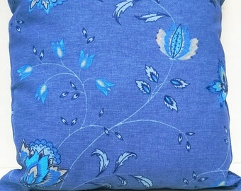 Turquoise pillow. Blue and turquoise flower pillowcase
