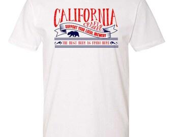 California Craft Beer Tshirt Craft Beer Clothing Craft Beer Lover Drinking Tshirt Best Beer is From Here SoCal Craft Beer Shirt