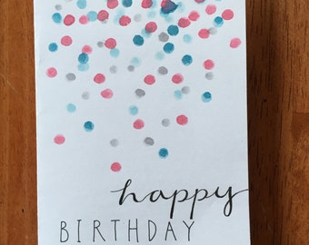 Red, White, and Blue Dotty Birthday Card