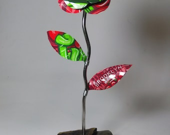 Recycled Aluminum Can Flower