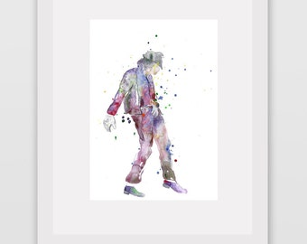Michael Jackson. Watercolor Art Print. Modern Wall Art.Home Decor