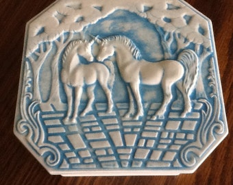 Ceramic Unicorn Trinket Box with Lid