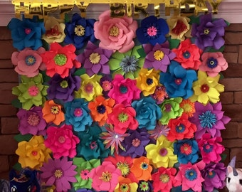 Paper Flower Backdrop Made to order in any color 4x4