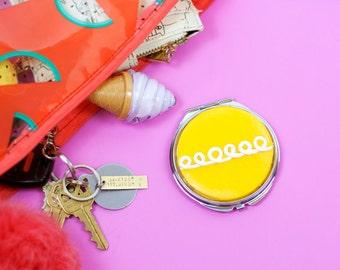 Hostess Cupcake Compact Mirror, Orange
