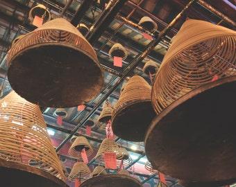 Hong Kong Photography, Travel Photography, Hong Kong, China, Photo Prints, Man Mo Temple
