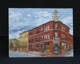 Plein Air Oil Painting, Hamilton New York 9x12