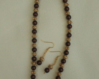 Chocolate and Gold Pearls