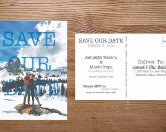 Custom 2 sided Save Our / The Date Postcards