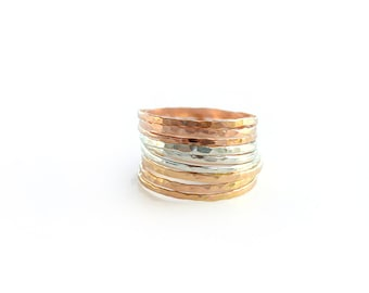 Set of 9 Stacking Rings - Choose Color