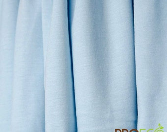 ProECO® Bamboo Jersey Fabric (Baby Blue, sold by the yard)