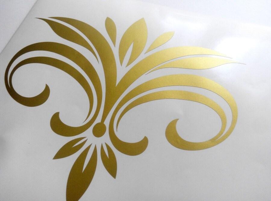 10 Damask decals, damask sticker, removable vinyl, wallpaper decal ...