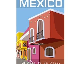 Mexico - Original Art Poster