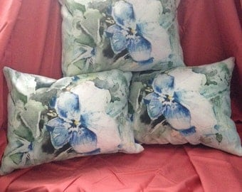 Pillow: Pansy Series Blue