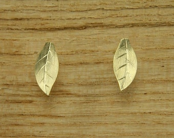 Earrings gold 585 /-, small autumn leaves