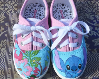 Disney's Lilo and Stitch Painted Canvas Toddler Shoes