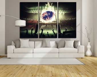 Large Wall New Zealand National Rugby Team Canvas Color Rugby of NZ  Multipanel Canvas Stadium Canvas Art Large Rugby  Sport Print