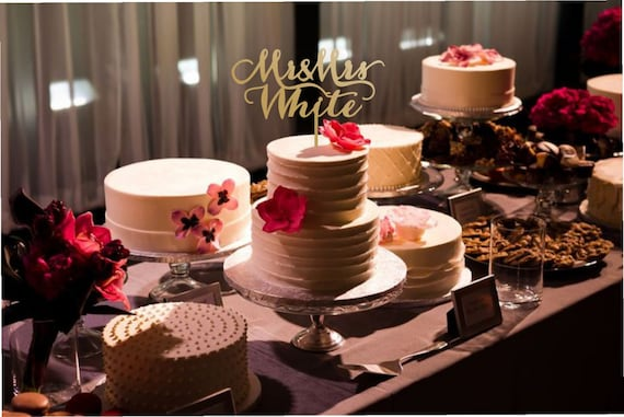 multiple wedding cake table custom cake topper cake topper mr amp mrs wedding gold cake 17660