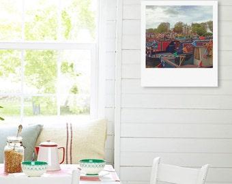"Custom Polaroid Style Cotton Canvas Print  with Copyright Photograph of London - ""Pick Your Boat"", 3 sizes available, Custom Wall Decor Idea"
