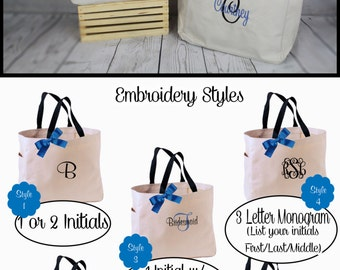 Personalized Bridesmaid Gift Tote Bag- Bridesmaid Gift- Personalized Bridemaid Tote - Wedding Party Gift - Name Tote-
