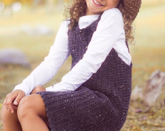 Wool Jumper With Oversized Hat Crochet Pattern Size 2T to Girls Size 14