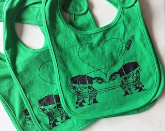 Star Wars Bib: Cute Unisex Bib, Funny Baby Bib, Dribble Bib, Fun Baby Clothes, Screen Printed Bib, Newborn Gift