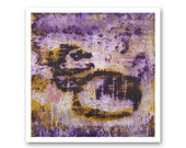 FINE ART PRINT of Original Purple and Yellow Abstract Painting - Mineral Pools by Lisa Carney - Giclee Reproduction size 12x12 inches