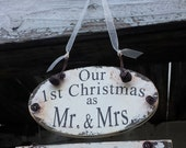 MR and MRS Christmas ORNAMENT | Personalized Ornament | Our First Christmas Ornament | Wedding Ornament | Our 1st Christmas | Wedding Gift