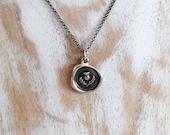 Scottish Thistle Wax Seal Necklace - Scottish Jewelry - 344