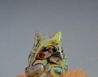 Cat Bead Handmade Lampwork Focal - Charlene FatCat