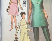 Lot of 2 1960s & 1970s Sewing Patterns Simplicity 9062 and McCall's 9259 Dress Size 16 and 18