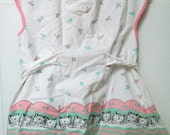 vintage childs sleeping kitties apron