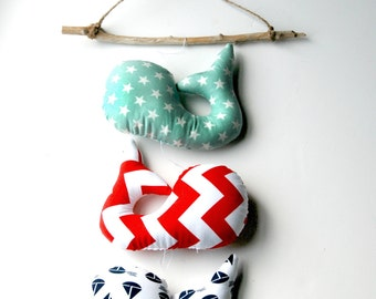 Nautical Mobile, Nautical Nursery Decor, Nautical Baby Mobile, Nautical Wall Art #16
