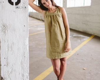 Organic Linen Patio Dress