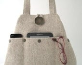 shoulder tote bag, hobo bag, fabric handbag, bag with pockets, tapestry  purse, shoulder bag, diaper bag