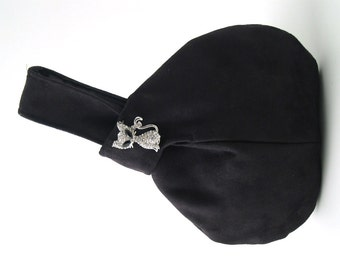 black evening clutch, wristlet purse, black evening bag, clutch handbag, black clutch purse, vegan bag