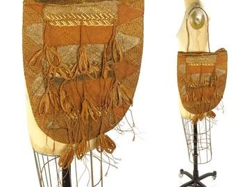 Vintage Bilum Bag / Papua New Guinea Woven Straw Grass Fiber Ceremonial Basket Purse / Ethnic Tribal Native Oceanic Traditional