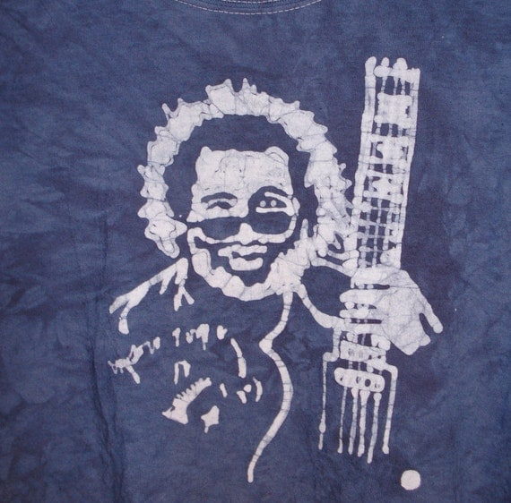 Jerry Garcia Batik  Guitar Music Grateful Dead Tshirt