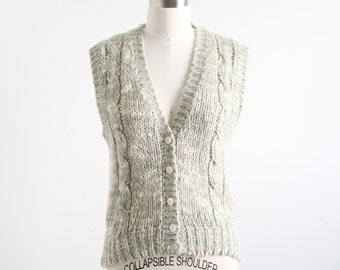 Vintage Pale Green Sweater Vest