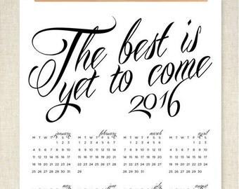 2016 Wall Calendar- SALE!