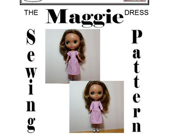 Dress Sewing Pattern for Blythe Maggie PDF Download by Susan Bischoff and Dolly Delicacies