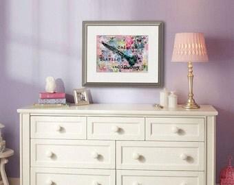 CLARINET musical art | Fine art print |  mixed media art | collage art | word art | quote art | music wall art | musical wall art