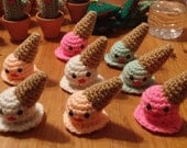 Melted Ice Cream Cone Ornament - Your choice of color