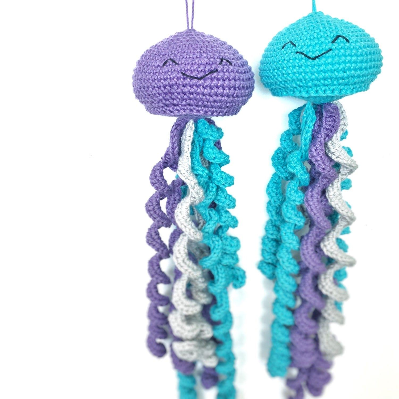 Cute Toy Jellyfish Amigurumi Crochet Unique Baby Shower