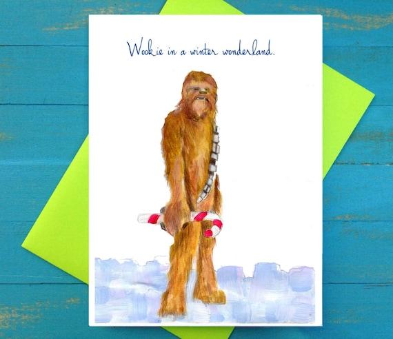 Wookie in a Winter Wonderland christmas card