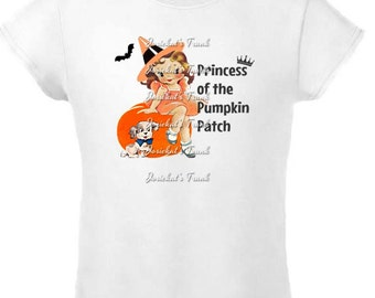 Halloween Girl Shirt - SALE Size 4 Tee - Ready to Ship - Halloween Pumpkin Shirt - Girl Retro Halloween Shirt - Sale Shirt Size 4 Girls