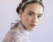 Bridal headband - Opal crystal circle headband - Style 625 - Ready to Ship