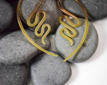 12G | Beryl Seaglass | River Talons | Gauged Glass Body Jewelry for Stretched Piercings by Glassheart
