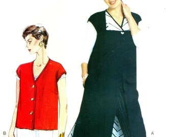 Vogue 306 TODAY'S FIT Sandra Betzina Tunic and Top Long or Short Vest ©1999 AKA Vogue 7065