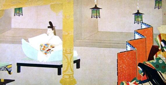 Vintage Japanese Print - Vintage Print - Print - Magazine Insert - Magazine Page - Portrait of Taira no Shigemori
